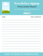 newsletter sign up templates