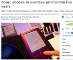 When will eBooks overtake print books? by Anna Lewis